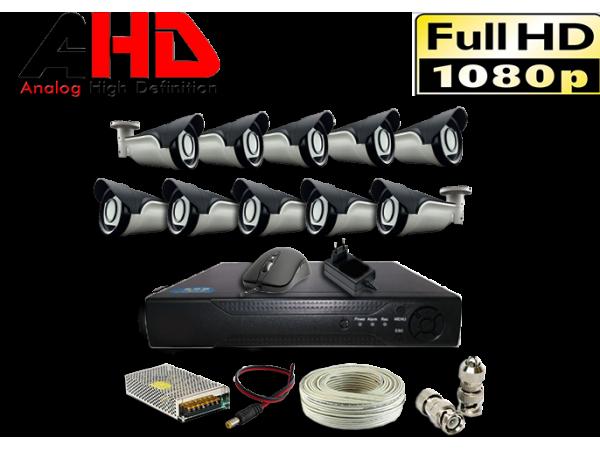 1080P 2MP 10 Kameralı AHD Güvenlik Seti
