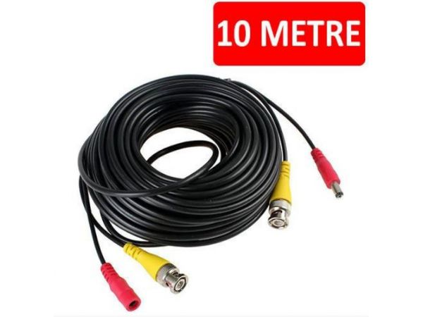 HAZIR BNC KAMERA KABLOSU + POWER CCTV 10 METRE