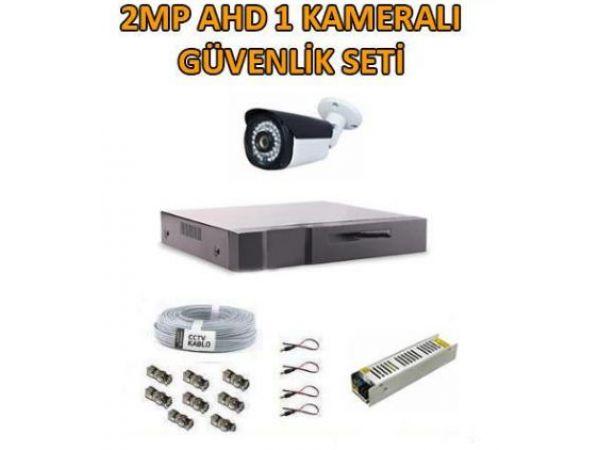 2 Mp AHD Tek Kameralı Güvenlik Seti