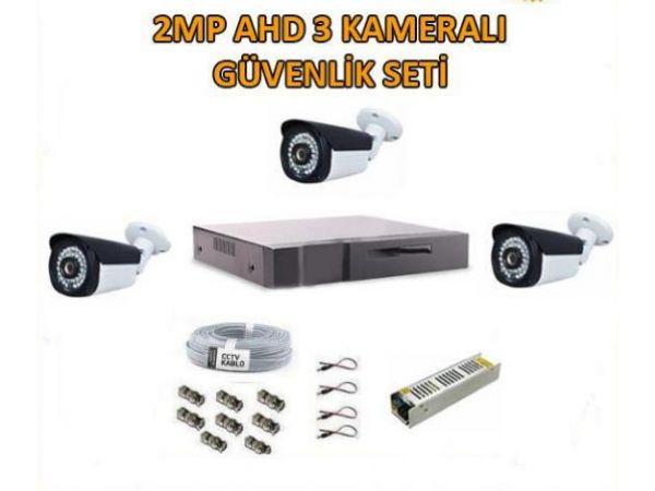 2 Mp Ahd 3 Kameralı Güvenlik Seti