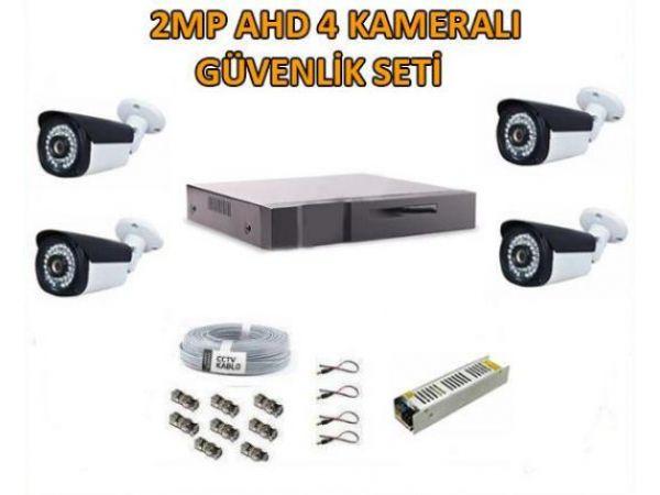 2 Mp Ahd 4 Kameralı Full Güvenlik Seti