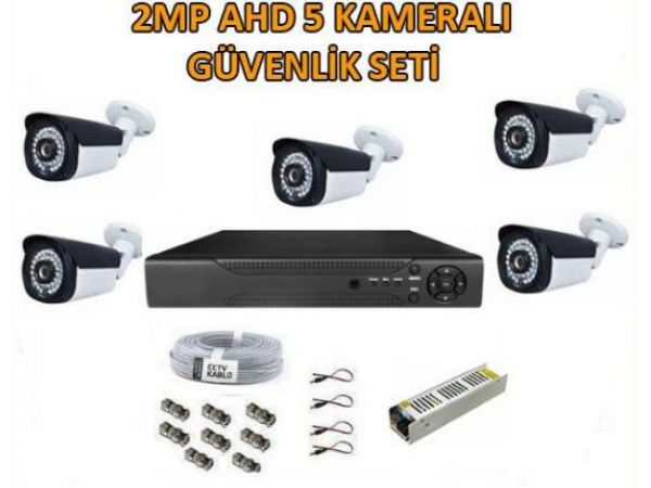 2 Mp Ahd 5 Kameralı Güvenlik Seti