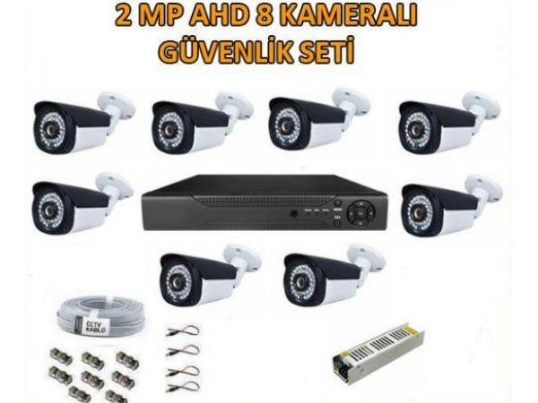 2 Mp Ahd 8 Kameralı Güvenlik Seti