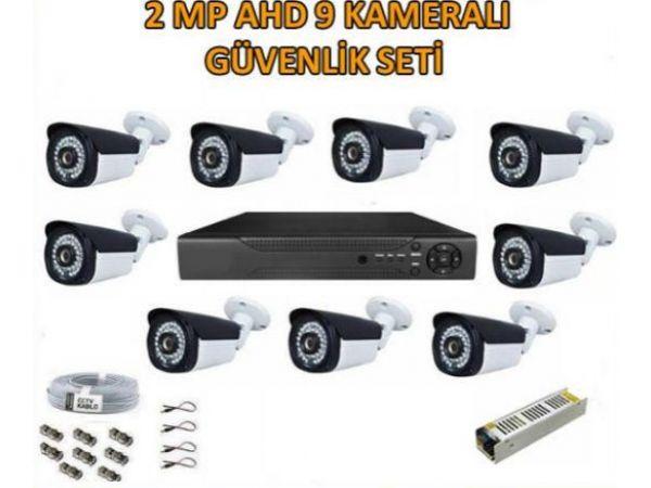 2 Mp Ahd 9 Kameralı Güvenlik Seti