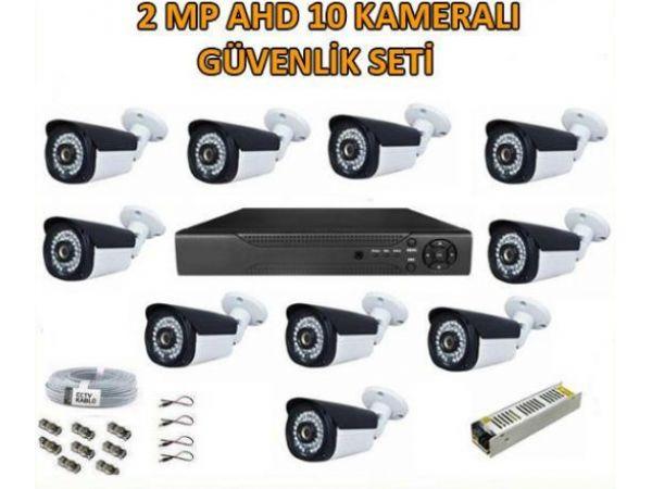2 Mp Ahd 10 Kameralı Güvenlik Seti