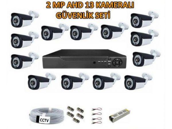 2 Mp Ahd 13 Kameralı Güvenlik Seti