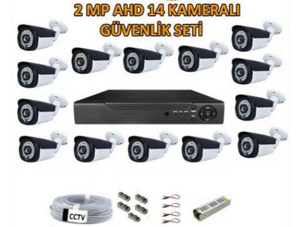 2 Mp Ahd 14 Kameralı Gece Görüşlü Güvenlik Seti