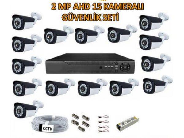 2 Mp Ahd 15 Kameralı Güvenlik Kamerası Set