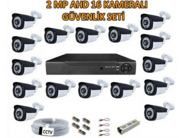 2 Mp Ahd 16 Kameralı Güvenlik Seti