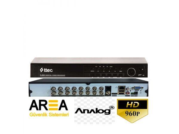 16 Kanal CIF H.264 ANALOG DVR Kayıt Cihazı
