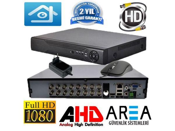 16 Kanal AHD FULL HD  H265 Kamera Kayıt Cihazı AR-516