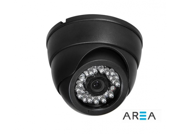 1.3 MP AHD SiYAH DOME KAMERA 24 led