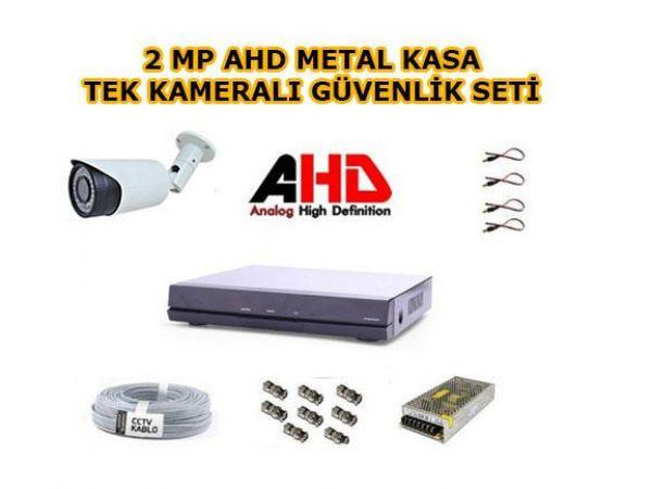 Tek Kameralı 2MP AHD Güvenlik Kamerası Seti 320 GB Hard Disk Dahil