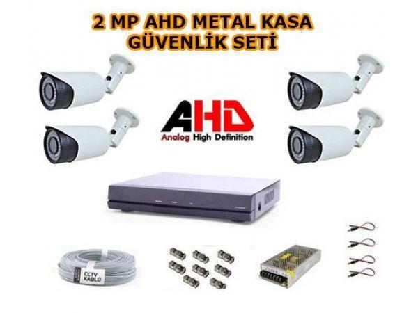 4 Kameralı 2MP AHD Güvenlik Kamera Seti 1 TB Hard Disk Dahil