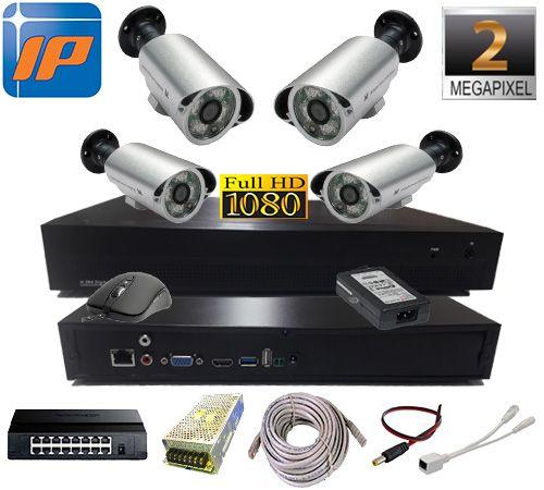 2MP 1080P 4 Kameralı IP Güvenlik Seti AR-7998