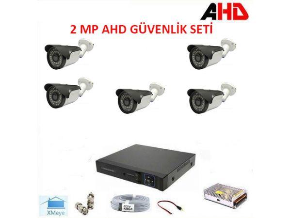 1080P 2MP 5 Kameralı AHD Güvenlik Seti