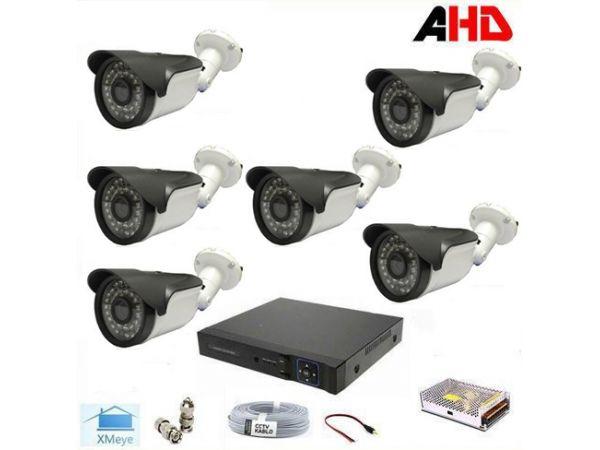 1080P 2MP 6 Kameralı AHD Güvenlik Seti