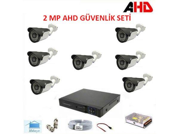 1080P 2MP 7 Kameralı AHD Güvenlik Seti