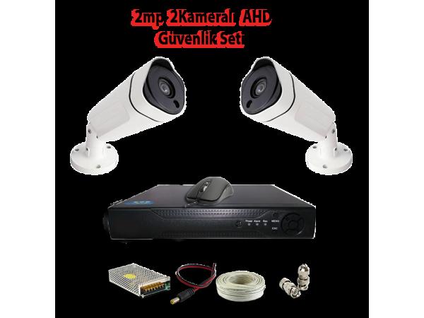 2MP 2 Kameralı AHD Güvenlik Seti