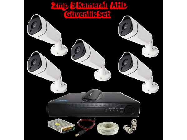 2MP 5 Kameralı AHD Güvenlik Seti