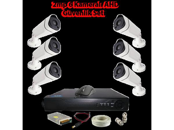 2MP 6 Kameralı AHD Güvenlik Seti