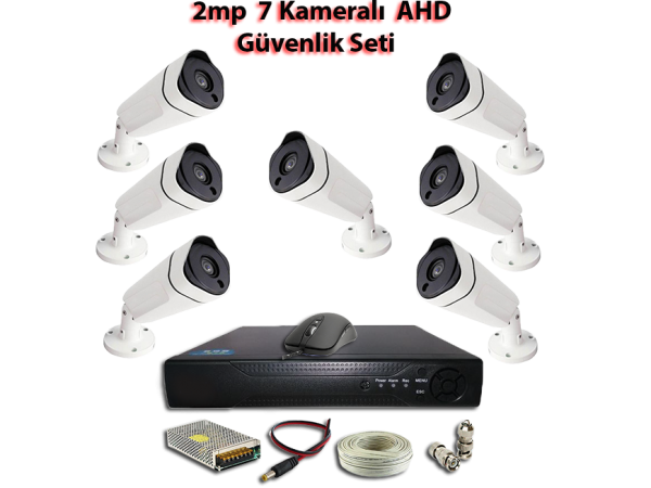 2MP 7 Kameralı AHD Güvenlik Seti