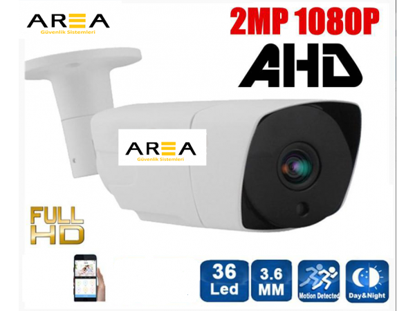 2 MP 1080P AHD 36 Led 3.6 MM Lens Metal Kasa Güvenlik Kamerası AR-9765