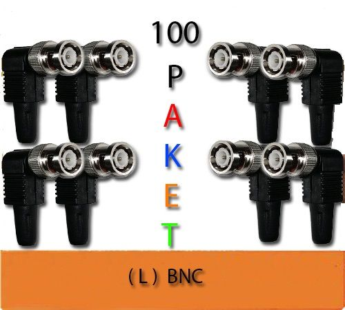 CCTV BNC L KONNEKTÖR 100 LÜ PAKET