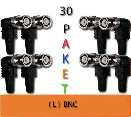CCTV BNC L KONNEKTÖR 30 LU PAKET