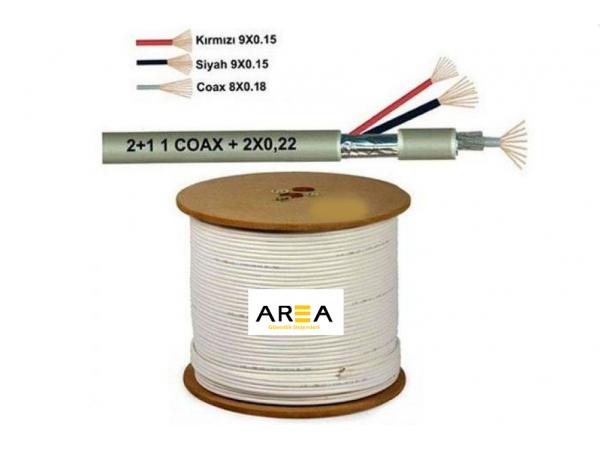 2+1 500 Metre 0,22 CVVT Kamera Kablosu