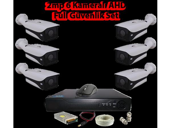 2MP 6 Kameralı AHD Full Güvenlik Seti AR-9556