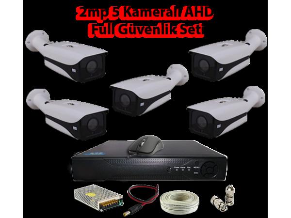 2MP 5 Kameralı AHD Full Güvenlik Seti AR-9555