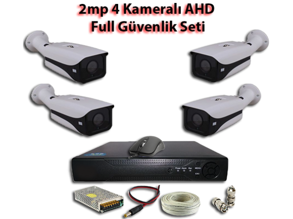 2MP 4 Kameralı AHD Full Güvenlik Seti AR-9554