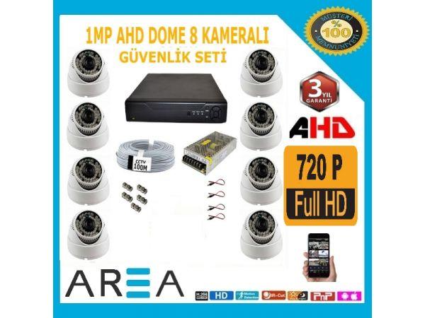 8 Kameralı 2MP AHD DOME GÜVENLİK KAMERA SETİ