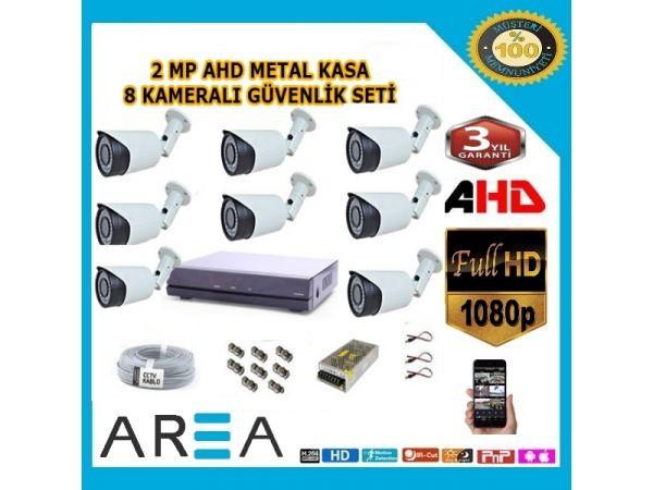 8 Kameralı 2MP AHD Güvenlik Seti