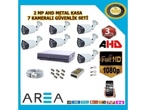 7 Kameralı 2MP AHD Güvenlik Seti