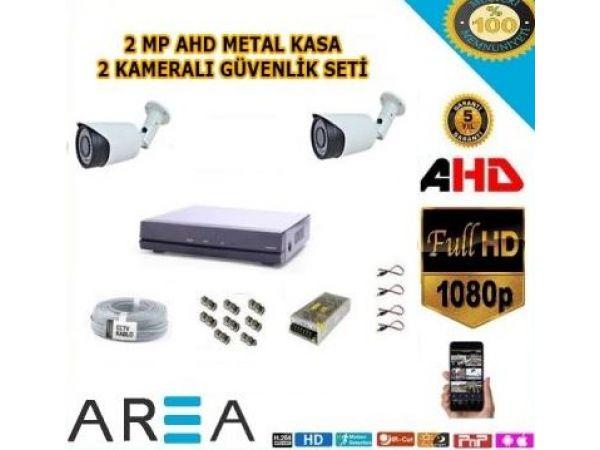 2 Kameralı 2MP AHD Güvenlik Seti