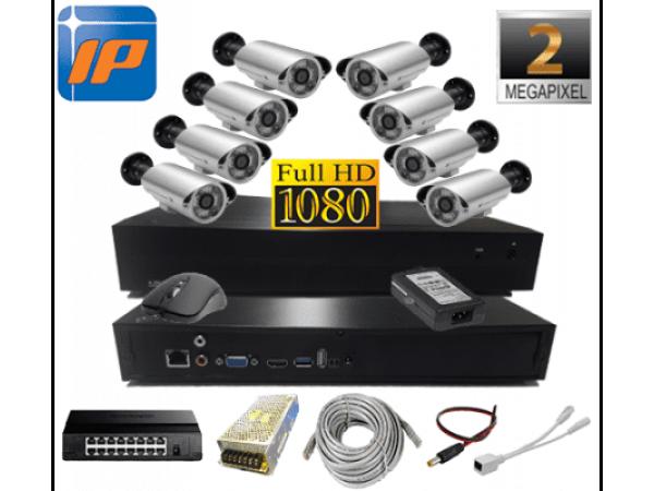 2MP 1080P 8 Kameralı IP Güvenlik Seti AR-7990