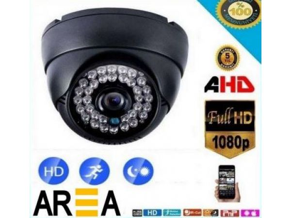 2 MP 1080P AHD SiYAH DOME KAMERA 24 LED