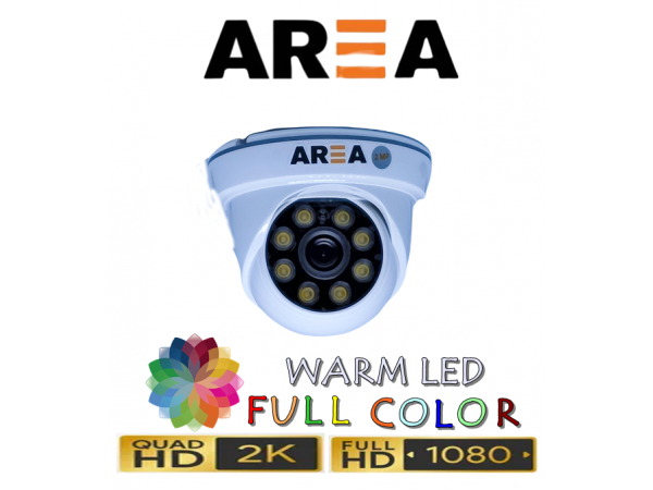 2MP 1080P AHD WARM LED İÇ MEKAN DOME GÜVENLİK KAMERASI