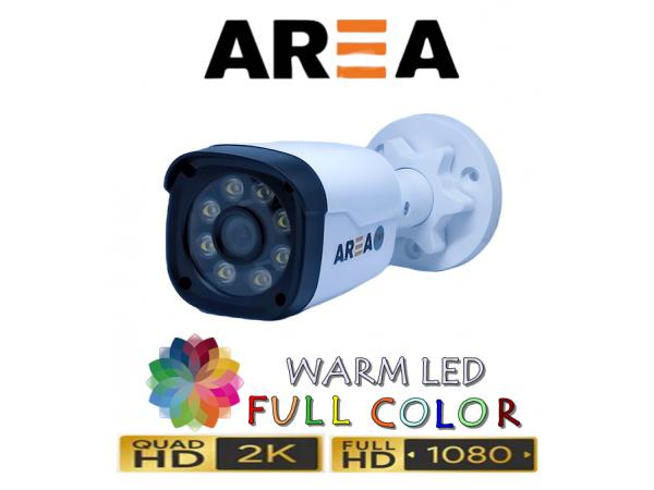 2MP 1080P AHD WARM LED DIŞ MEKAN GÜVENLİK KAMERASI