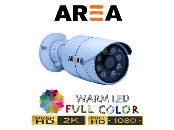 2MP 1080P AHD WARM LED DIŞ MEKAN METAL KASA GÜVENLİK KAMERASI