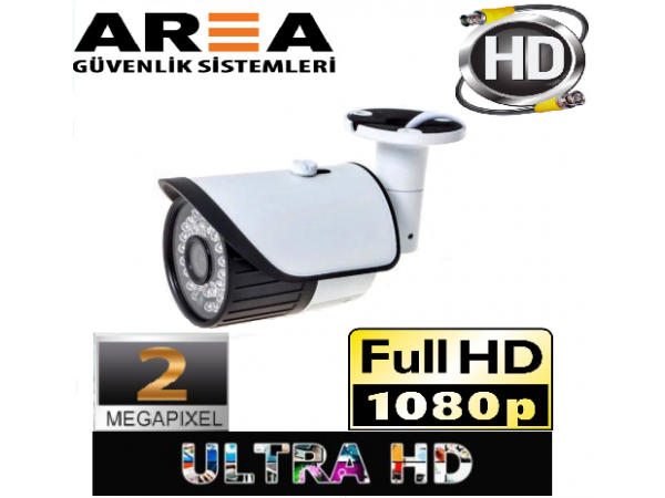 42 LED  Metal Kasa AHD 2.0 MP 1080p FULL HD APTİNA BORD 3mp LENS 4in1 Güvenlik Kamerası