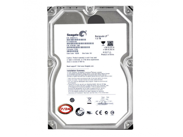 1.5 TB Seagate Barracuda Green 1,5 TB Dahili 5900 RPM 3,5 HDD