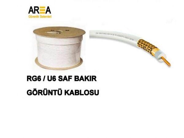 RG6/U6 Saf Bakır Görüntü  Kablosu %100 Bakır
