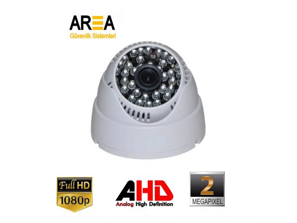 2 MP AHD 1080p 2.8mm Lens 36 IR Led Dome Güvenlik Kamerası AR-9479