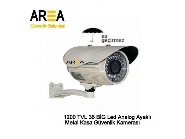 1200 TVL 36 BİG  Led Analog Ayaklı Metal  Kasa Güvenlik Kamerası AR-9721