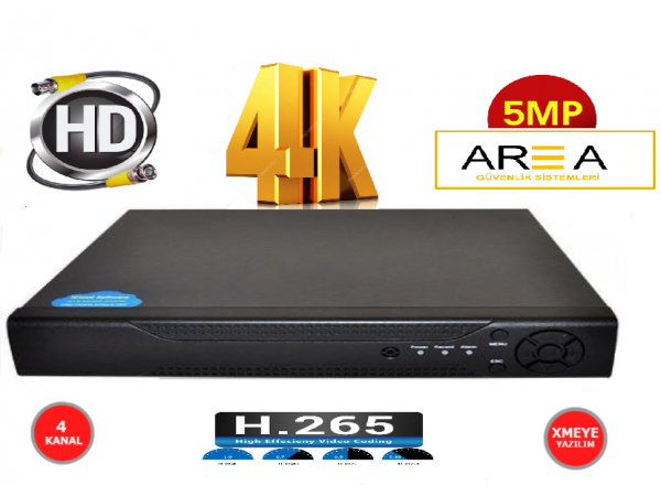 4 KANAL H265 4K 5MP VE 2MP  DESTEKLİ FULL HD 1440  1080  KAMERA KAYIT CİHAZI  DVR XMEYE