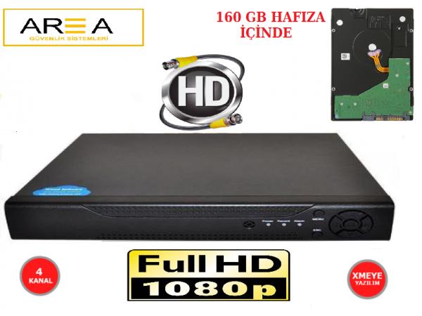 2MP 1080 FULL HD GÜVENLİK KAMERA KAYIT CİHAZI 160 GB HDD İÇİNDE
