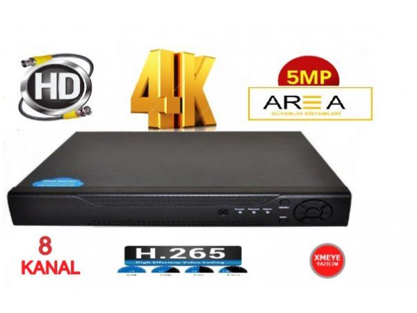 8 KANAL H265 4K 5MP VE 2MP DESTEKLİ FULL HD 1440 1080 KAMERA KAYIT CİHAZI DVR XMEYE